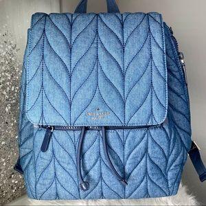 Kate Spade Ellie Flap Large Denim Backpack